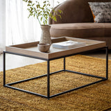 Matte Oak Coffee Table Grey