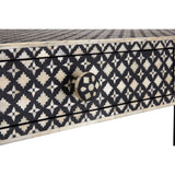 Boho Console Table 2 Drawer Mother of Pearl / Wood