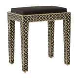 Boho Stool Mother of Pearl