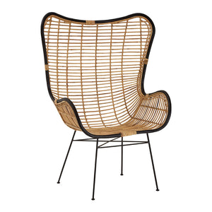 The Nordic Rattan Egg Chair angle view