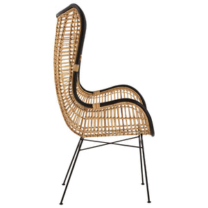 The Nordic Rattan Egg Chair side view