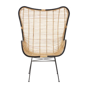 The Nordic Rattan Egg Chair front view