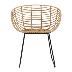 The Nordic Rattan Tub Chair front view