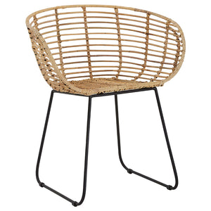 The Nordic Rattan Tub Chair angle view