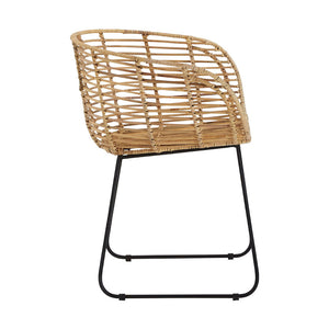 The Nordic Rattan Tub Chair side view