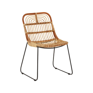 The Nordic Rattan Dining Chair angle view