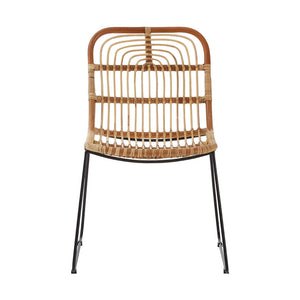 The Nordic Rattan Dining Chair front view
