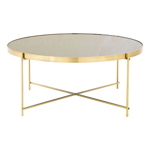 The Mirrored Coffee Table - Black and Bronze
