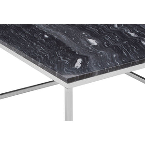 The Black Marble Square Coffee Table