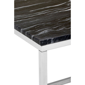 The Black Marble Side Table