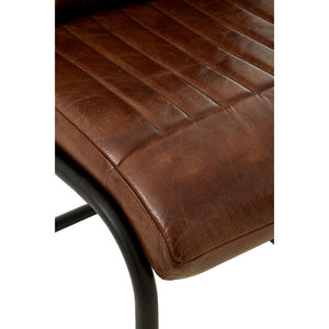 The Dark Leather Dining Chair
