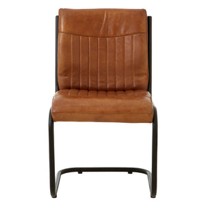The Brown Leather Dining Chair