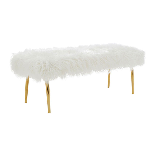The Fluffy Bench side angle on white background