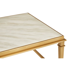 The Luxe Coffee Table - White Marble & Gold Finish