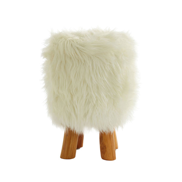 The Fluffy Stool side view on white background
