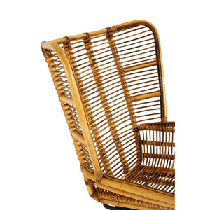 The Nordic Rattan chair wicker detail