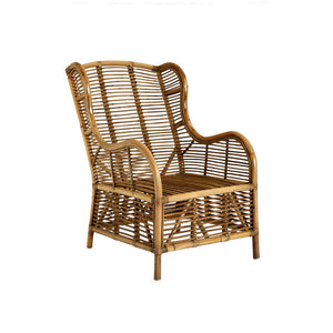 The Rattan Armchair angle view