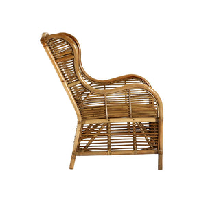 The Rattan Armchair side view