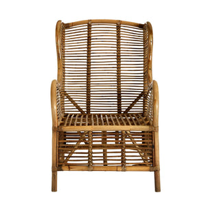 The Rattan Armchair front view