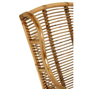 The Rattan Armchair wood detail close up