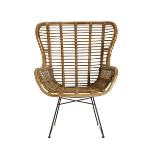 The Rattan Chair front view