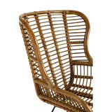 The Rattan Chair wood detail close up
