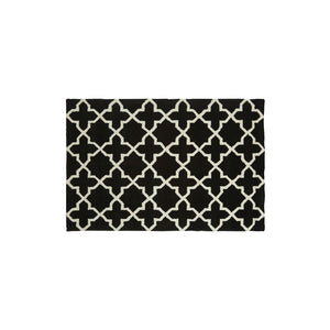 Black & White Trellis Tufted Rug (Small)