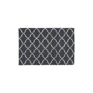 Grey & White Trellis Woven Rug (Small)