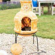 Sunset Grill 2-piece chimenea