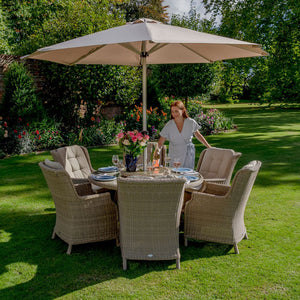 Alternative view of Bramblecrest Oakridge Garden Dining Set 6 seater