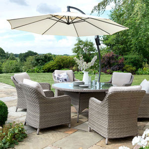 2019 Kettler Charlbury 6 Seat Dining Set with parasol