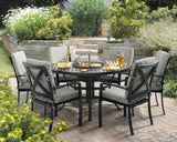 Jamie Oliver Contemporary 6 Seat Grilling and Dining Set - Black & Grey