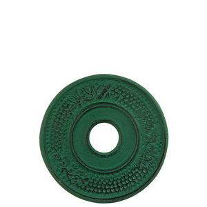 Iron trivet in green top view