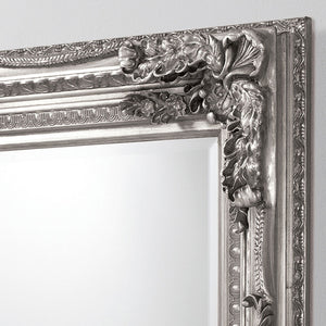 Close-up of Chateau Leaner Mirror (Silver) frame