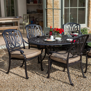 2018 Hartman Amalfi 6 Seat Dining Set with Oval Table showing one end of table