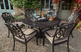 2018 Hartman Amalfi 6 Seat Dining Set with Round Table on gravel