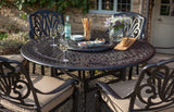 2018 Hartman Amalfi 6 Seat Dining Set with Round Table in garden