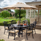 The 2019 Hartman Amalfi 6 Seat Round Dining Table Set In Situ