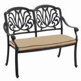 2018 Hartman Amalfi Outdoor Bench & Cushion - Bronze