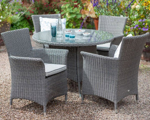 2018 Hartman Appleton 4 Seat Dining Set with Round Table - Dark grey - close-up