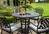 2018 Hartman Berkeley 4 Seat Dining Set with Round Table -  Black - close-up of table