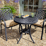 2019 Hartman Berkeley Garden Bistro Set With A Round Outdoor Table And Two Dining Chairs With Water Resistant Cushions