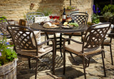 2018 Hartman Berkeley 6 Seat Dining Set with Round Table - Bronze - wide angle