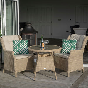Oakridge 80cm Round Bistro Set Wide View