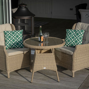 Bistro Set Oakridge 80cm Entire Set Tall View