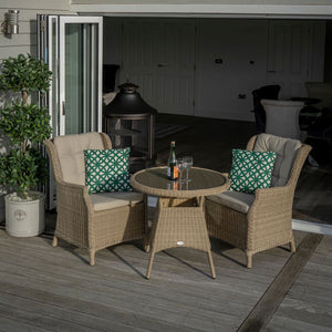 Bistro Set Oakridge 2 Chairs and 80cm Table Wide Lense View