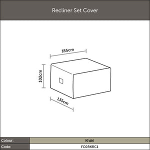 2019 Bramblecrest Outdoor Reclining Chair Set Garden Furniture Cover diagram with dimensions