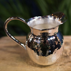 Extra small silver hammered jug