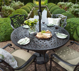 2018 Hartman Capri 4 Seat Dining Set with Round Table - Bronze - close-up of table