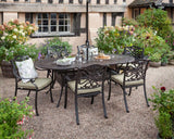 2018 Hartman Capri 6 Seat Dining Set with Oval Table - Bronze - on chippings